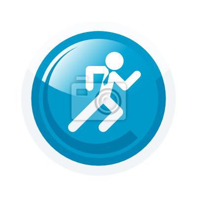 Mann laufen spannung symbol zeichen fototapete • fototapeten ...