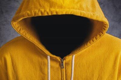 Fototapete Mann ohne Gesicht mit Hodded Jacket