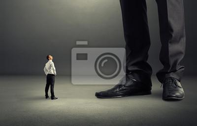 Fototapete Mann schaute auf seine big boss