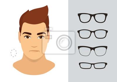 Mann Sonnenbrilleformen Für Ovale Manngesichtsart Verschiedene