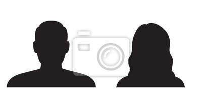 Fototapete Mann und Frau Silhouette