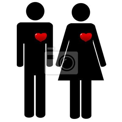 Mann und Frau Symbole