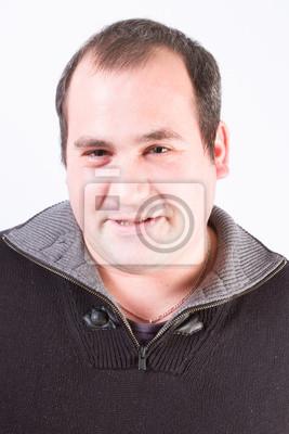 Mann Von Gesicht Von Vierzig Mit Haaren Dünn Fototapete