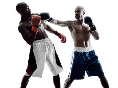 Fototapete Männer Boxer, isoliert Silhouette
