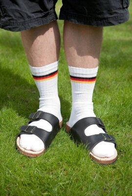 Socken sandalen und Modetrend im