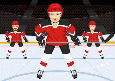 Fototapete Männliche Eishockeymannschaft