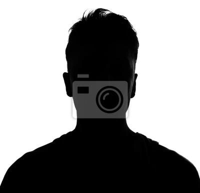 Fototapete Männliche Person, silhouette
