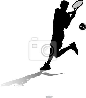 Männlicher Tennis-Silhouette