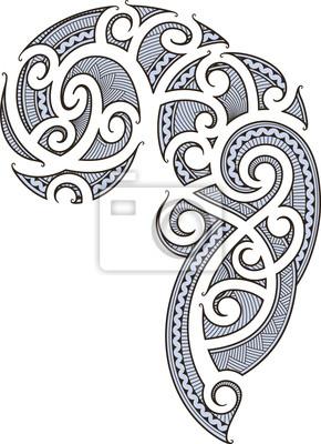 Maori Tattoo Design Fototapete Fototapeten Savage Komplizierte
