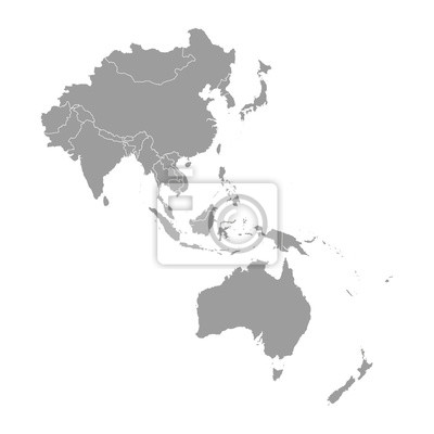 Fototapete Map of Asia Pacific.