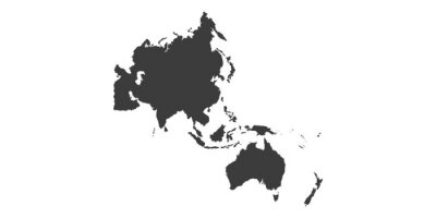 Fototapete Map of Asia Pacific. - Vector illustration