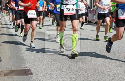 916a1f96adf51d Marathonlauf fototapete • fototapeten Laufschuhe