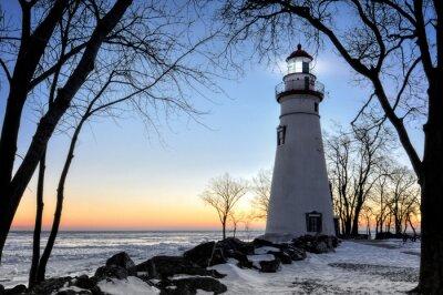 Fototapete Marblehead Leuchtturm-Sonnenaufgang