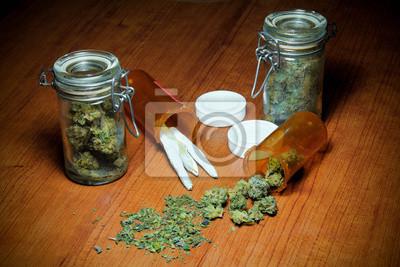 Marihuana auf Tabelle