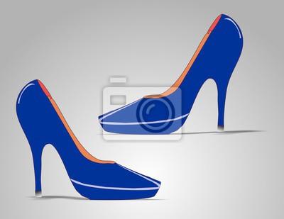 Marineblauen High Heels
