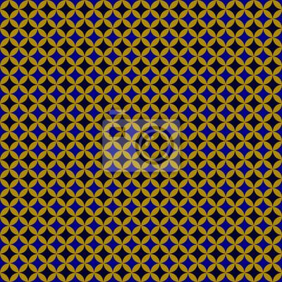 marokkanische muster blauschwarzgold fototapete fototapeten scrollwork geometrischen arab. Black Bedroom Furniture Sets. Home Design Ideas
