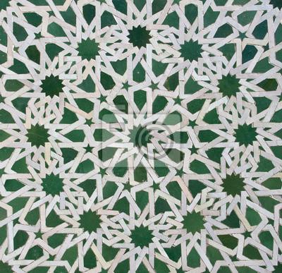 Marokkanischen Zellige Fliesen Muster Fototapete Fototapeten