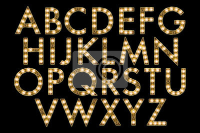 Fototapete marquee alphabet collection