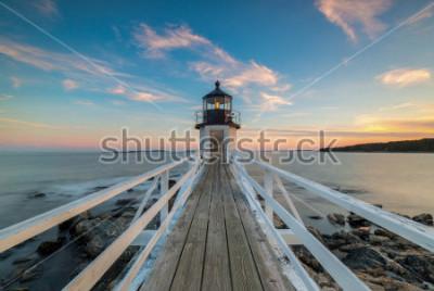 Fototapete Marshall Point Lighthouse-Sonnenuntergang