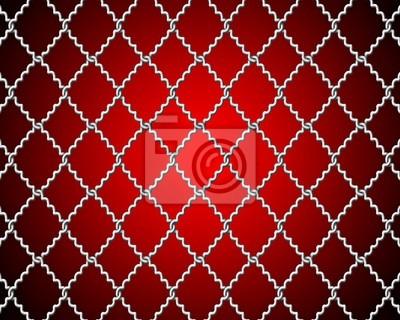 Maschendraht für das fechten auf einem roten hintergrund fototapete ...