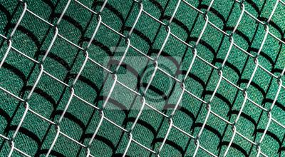 Atemberaubend Maschendrahtzaun mit sichtschutz fototapete • fototapeten close-up @HK_08