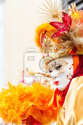 Masque carnaval Orange