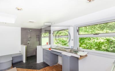 Master badezimmer sanitär-und engineeered stein zähler installiert ...