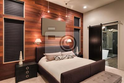 Fototapete Master Schlafzimmer In New Luxury Home Mit Blick Auf Badezimmer  Mit Dusche Und Badewanne
