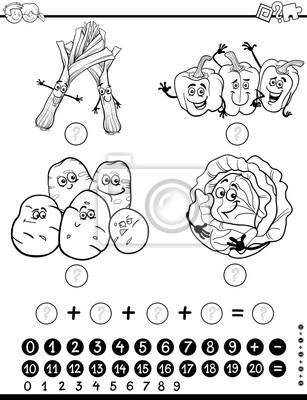 Mathe-aktivität arbeitsblatt ausmalbilder fototapete • fototapeten ...