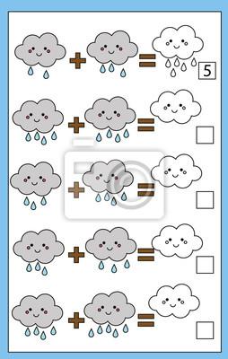 Mathe bildungszählung spiel für kinder, ergänzung arbeitsblatt ...