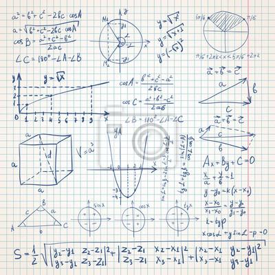 Mathe skizzenhaften Hintergrund