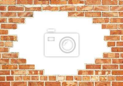 mauerdurchbruch fototapete fototapeten steinmauer loch durchbruch. Black Bedroom Furniture Sets. Home Design Ideas