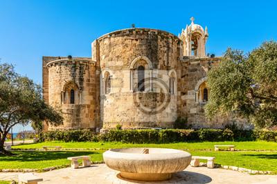 Fototapete Medieval stone Church of St John the Baptist, Byblos, Jbeil, Lebanon