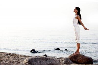 Fototapete Meditation auf Sandstrand