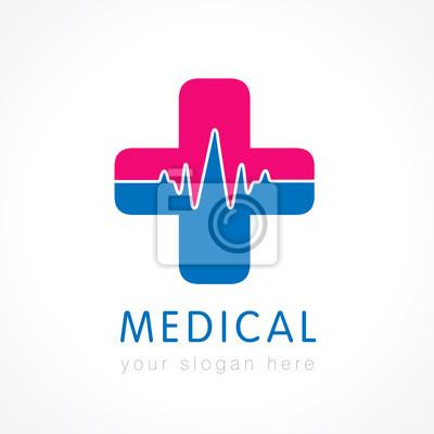 Medizinische versorgung logo. medizinische apotheke kreuz-logo ...