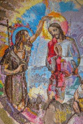 Medjugorje Bosnien Und Herzegowina 2016 Mosaik Der Taufe