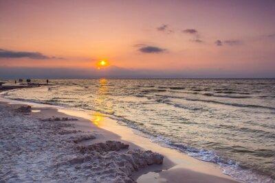 Fototapete Meer Sonnenuntergang in Polen