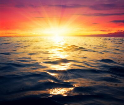 Fototapete Meer und Sonnenuntergang