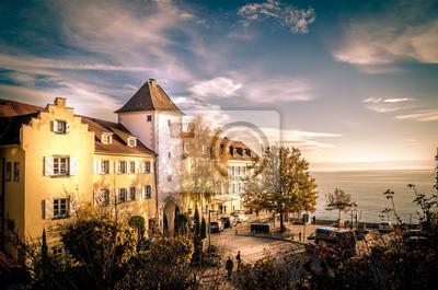 Meersburg am Bodensee im Sommer