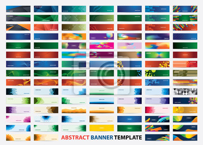 Fototapete Mega collection of 105 colorful banner template. Abstract web banner design.  Header, landing page web design elements.