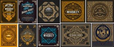 Fototapete Mega set of 10 vintage labels. Vector layered