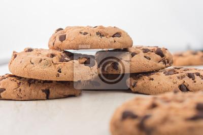 Fototapete mehrere Kekse gestapelt