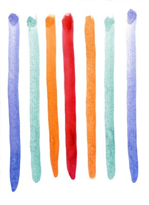 Fototapete Mehrfarbige Streifen Aquarell