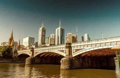 Fototapete Melbourne, Victoria, Australien. Schöne Skyline der Stadt