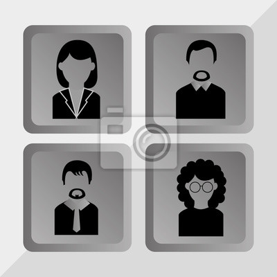 Menschen Profil-Design