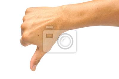 menschlichen Hand zeigt Daumen nach unten