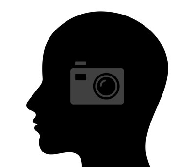 Fototapete Menschlicher Kopf Silhouette