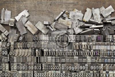Metall Buchdruck Druckstöcke