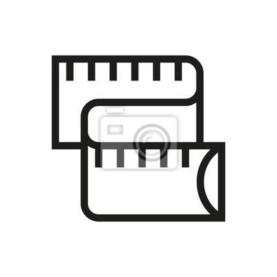 Meter-messung-symbol auf weißem hintergrund fototapete • fototapeten ...