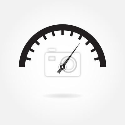 Meter-symbol. tachometer und anzeige. abbildung. fototapete ...